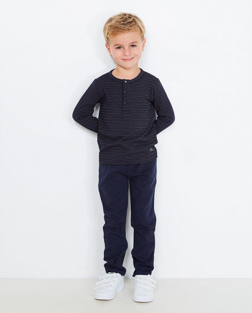 Pantalon bleu marine - slim fit - JBC